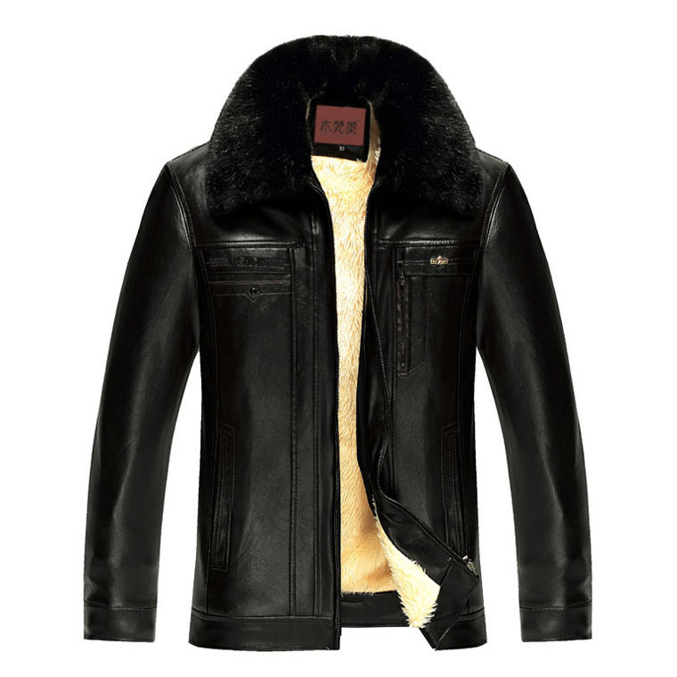 Áo khoác da nam cổ lông Men Leather style Vintage