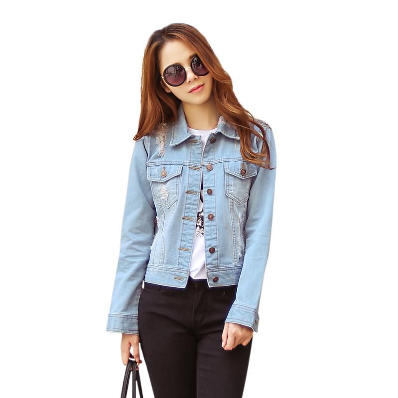 Áo khoác jeans nữ đính túi ngực Mooti