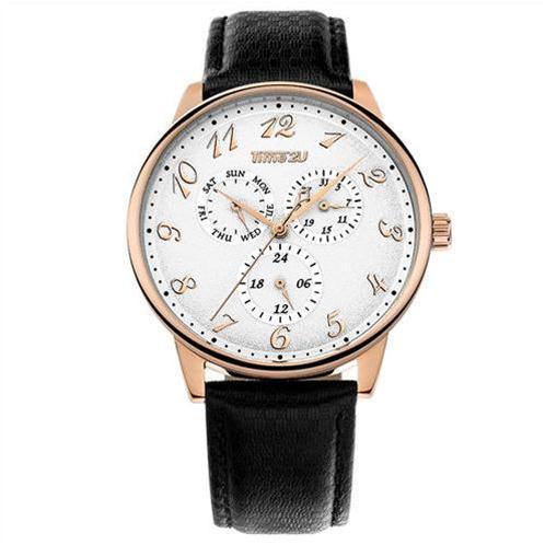 Đồng hồ nam dây da Time2U phong cách lịch lãm