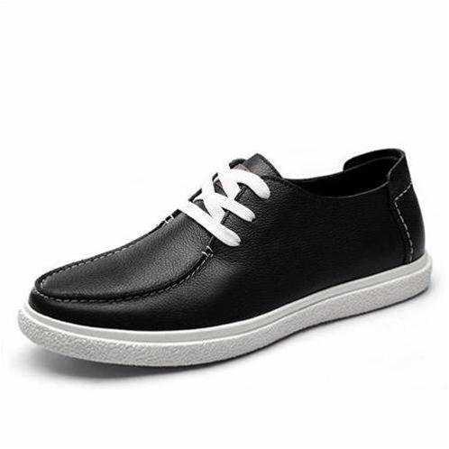 Giày da nam Simier phong cách Anh Quốc - Đế cao su phẳng
