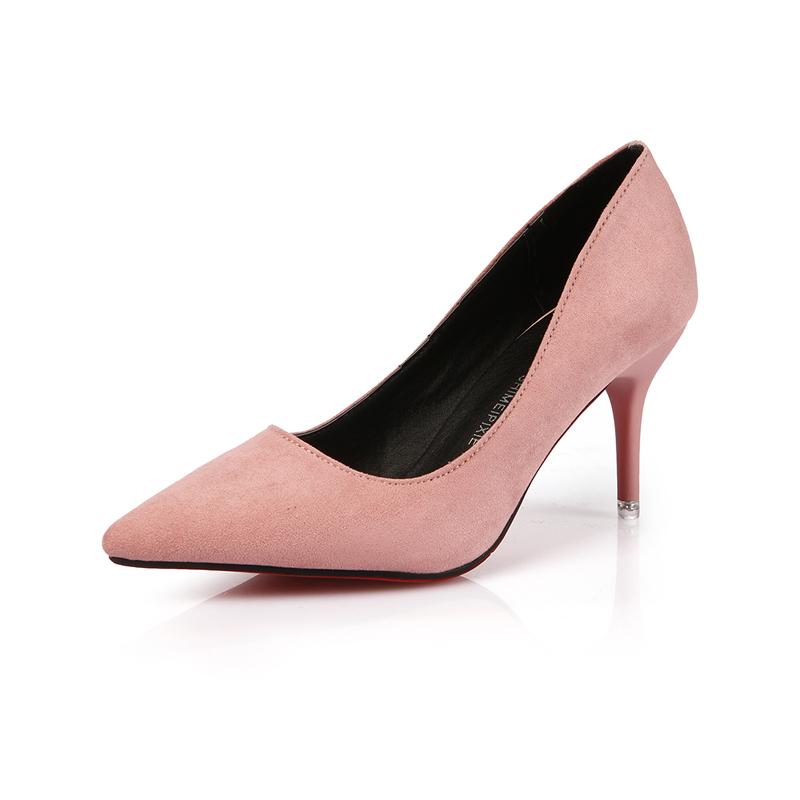 Giày cao gót ABQ da lộn mũi nhọn