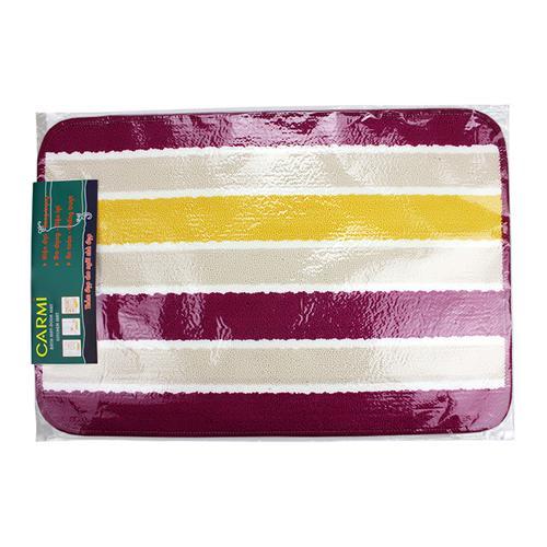 Thảm lau chân Stripe PP bộ 3 (chiếc) mặt len