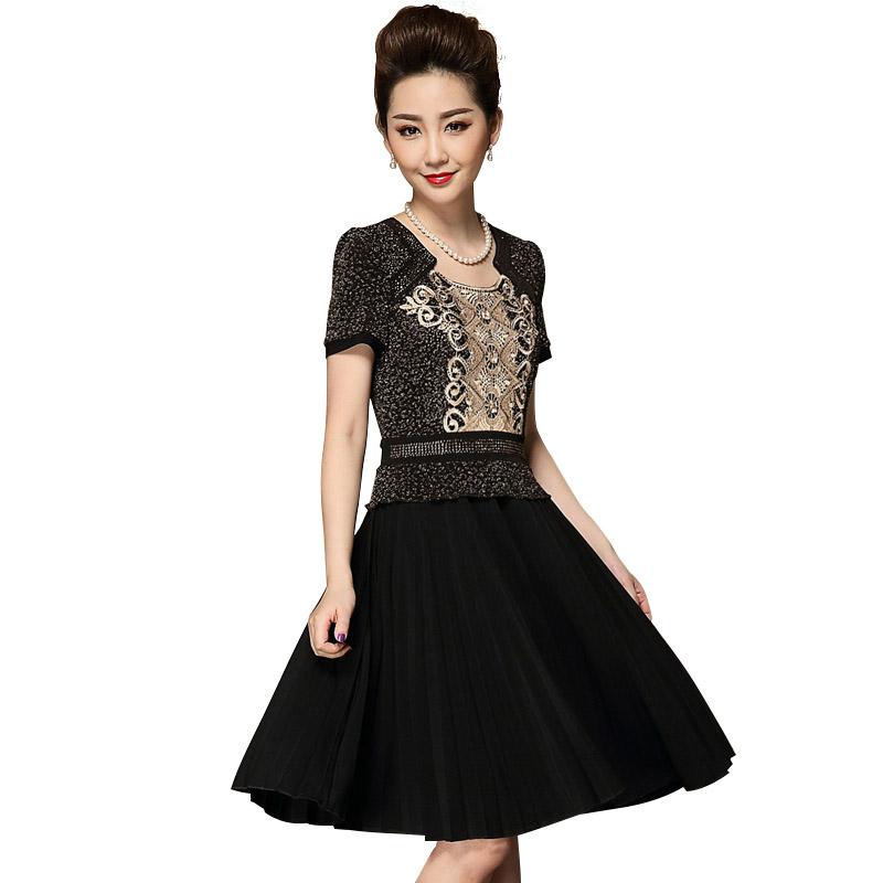 Váy xòe thêu hoa phong cách hoàng gia QIZ