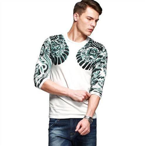 Áo T-shirt nam họa tiết hình xăm 3D
