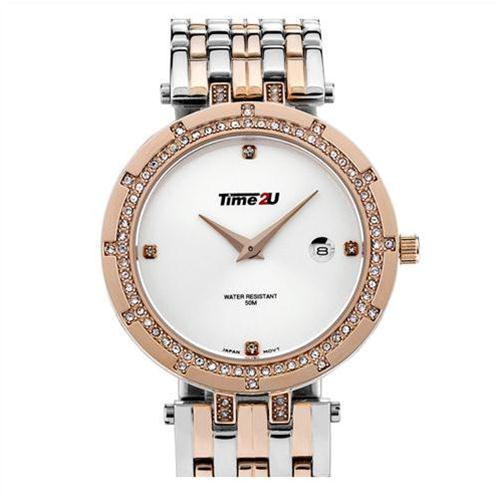 Đồng hồ nữ Time2U viền gắn đá