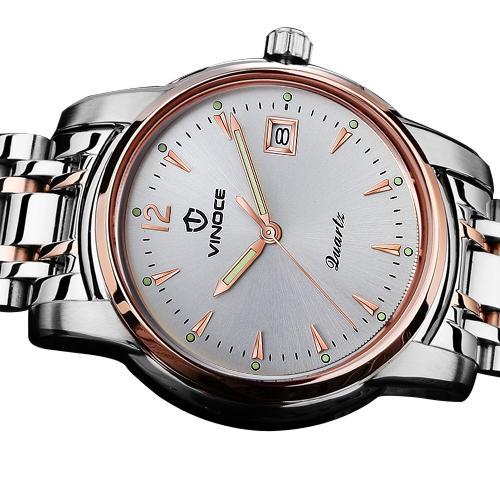 Đồng hồ doanh nhân nam kim dạ quang Vinoce 8381