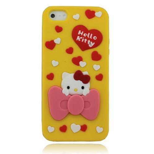 Vỏ Iphone 5 Hello Kitty (Vàng (N4))-IP00235-4