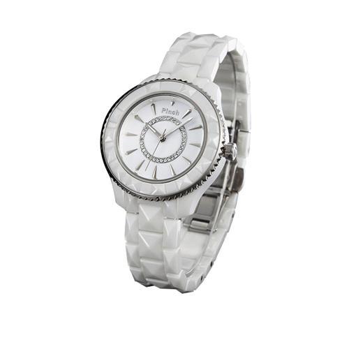 Đồng hồ nữ thời trang Pinch 6001 Viền ceramic lập thể ấn tượng