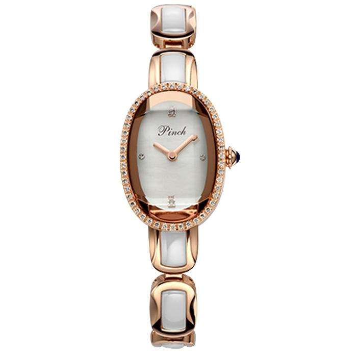 Đồng hồ lắc tay pha lê đẹp Pinch J7001A-P07 mặt Oval