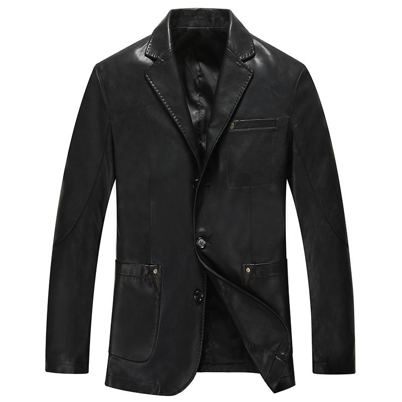 Áo jacket da nam giả vest viền chỉ nổi HXDSL