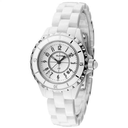 Đồng hồ nữ OLEVS L15 dây đeo gốm sứ trân châu