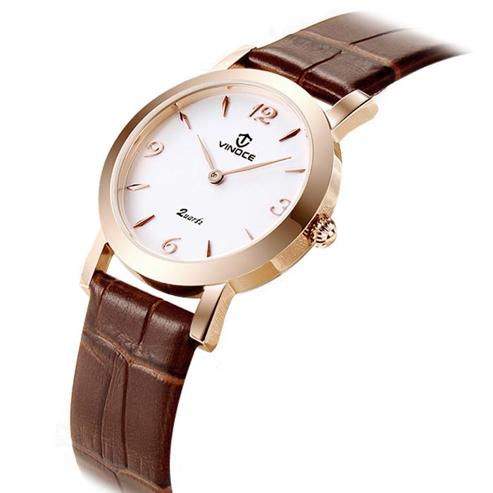 Đồng hồ nữ mặt tròn Vinoce