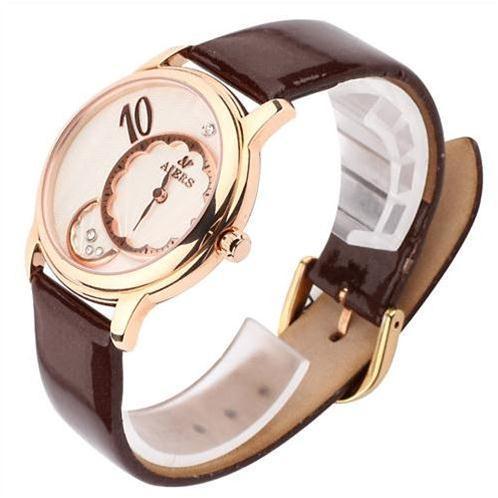 Đồng hồ nữ Aiers F112L số 10 khắc nổi