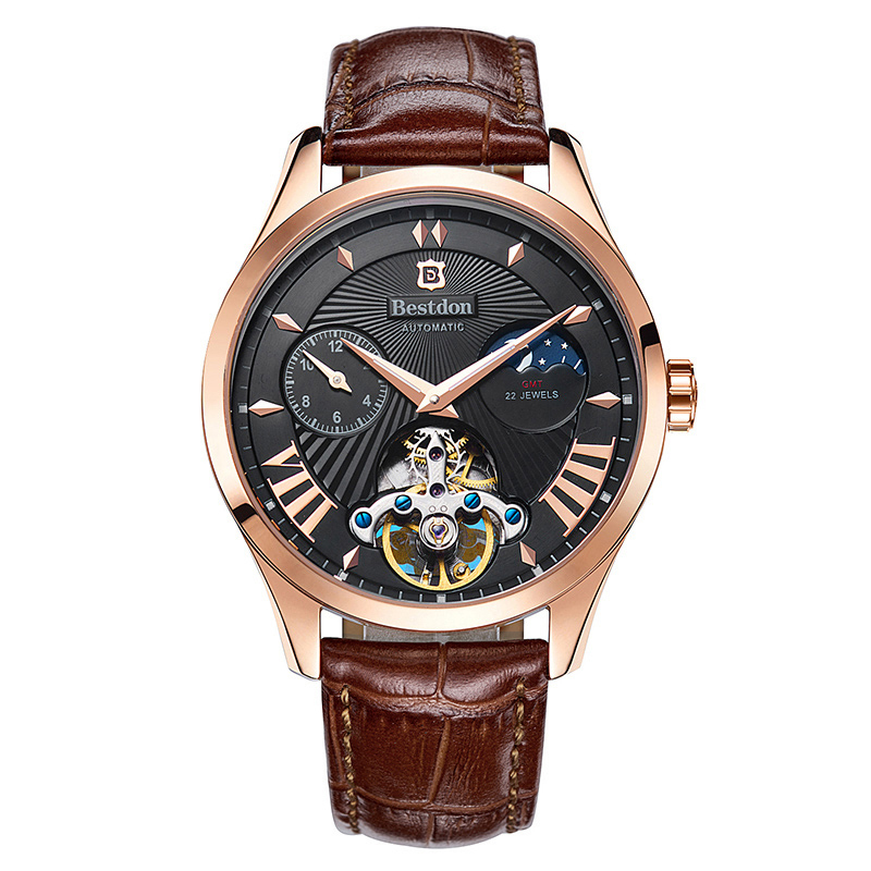 Đồng hồ cơ nam Bestdon chạm rỗng biểu tượng mỏ neo