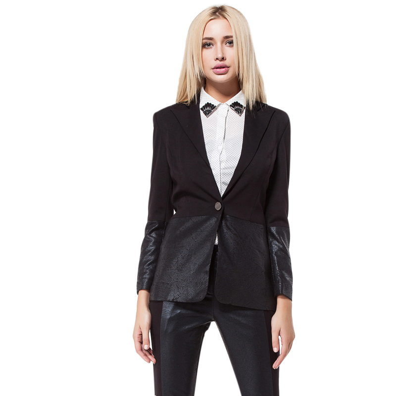 Áo vest nữ phối da style Menswear Mymo