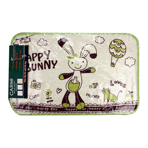 Thảm Happy Bunny bộ 3 (chiếc) họa tiết ngộ nghĩnh