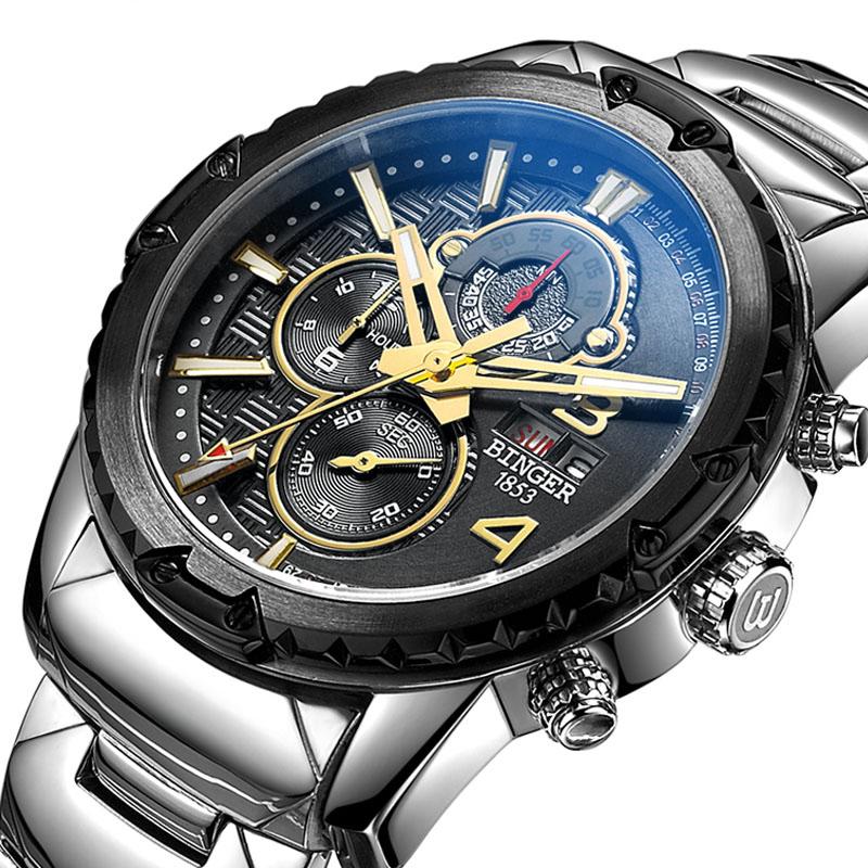 Đồng hồ nam quân dụng 6 kim Binger