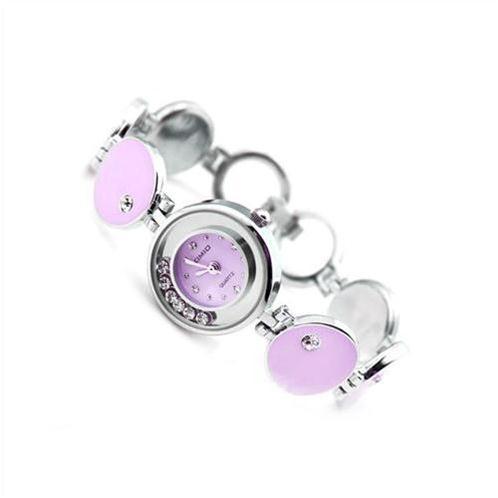 Đồng hồ nữ Kimio K32091L (Màu tím viền trắng gắn đá)-WA011-05