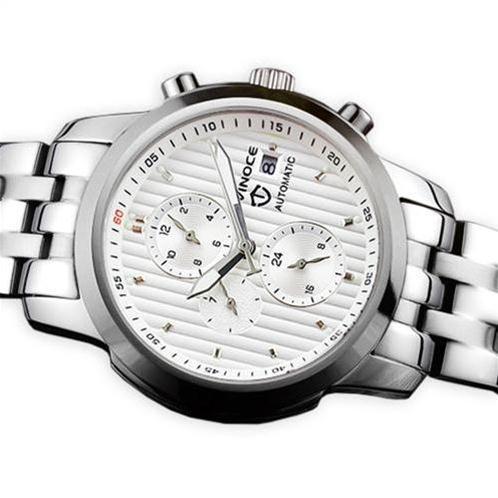 Đồng hồ cơ nam Vinoce V633229L mặt kính sapphire kiểu 6 kim