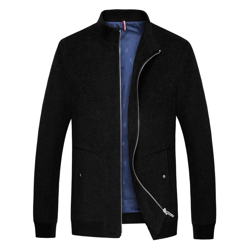 Áo Jacket nam dạ lông cừu Kadapo cổ đứng lót nỉ