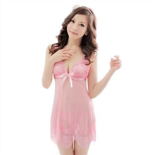 Bộ đồ ngủ nữ ren mỏng  sexy Hamuse - váy ngủ gợi cảm