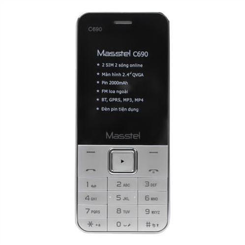 Điện thoại Masstel C690 - Màu bạc (tặng kèm sim Viettel)