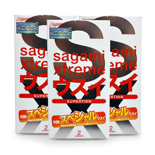 Combo 3 hộp Bao cao su Sagami SuperThin Red