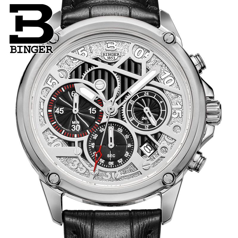 Đồng hồ chronograph nam đa năng Binger