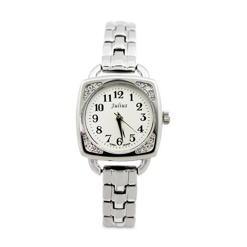 Đồng hồ nữ khuôn vuông đính đá Julius JA-737
