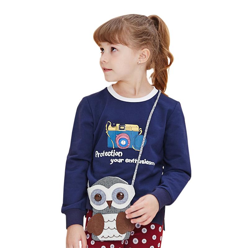 Áo T-shirt thu đông bé gái MYL họa tiết máy ảnh