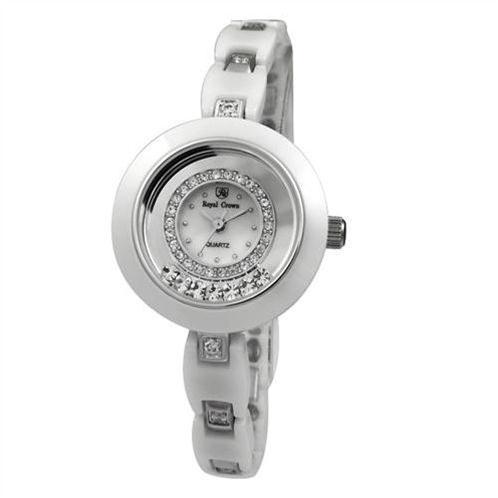 Đồng hồ nữ dây đeo gốm sứ  Royal Crown chính hãng