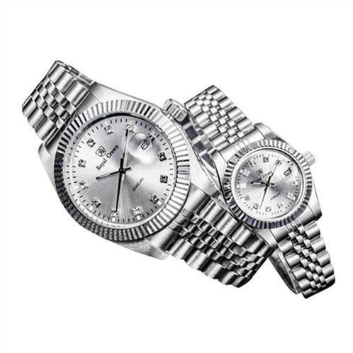 Đồng hồ đôi Royal Crown mốc giờ pha lê