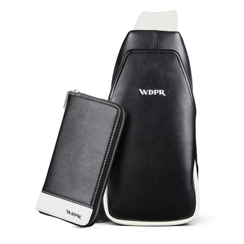 Túi đeo chéo du lịch mini kèm ví da WDPR
