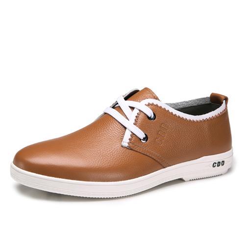 Giày da nam CDD 9211 - Viền trắng phá cách