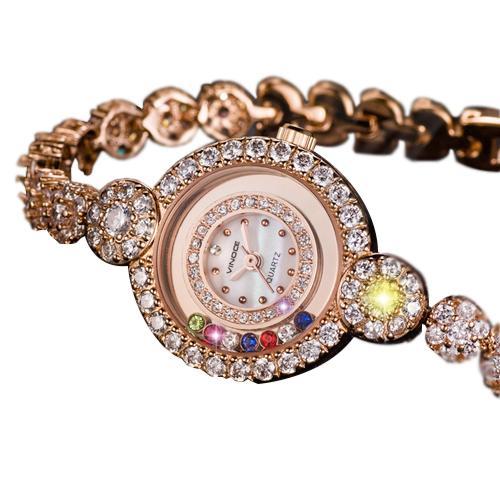 Đồng hồ trang sức đính pha lê nữ Vinoce 633230L tinh tế