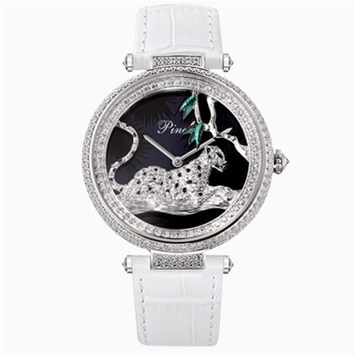 Đồng hồ nữ thời trang tráng men hình con báo Pinch L9508