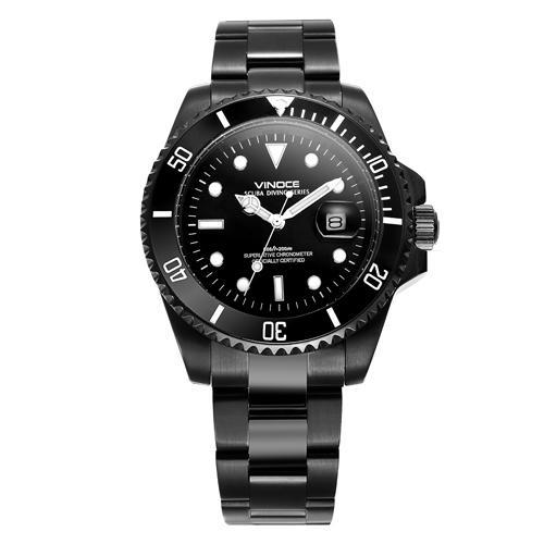 Đồng hồ nam viền khắc số Vinoce 6332222