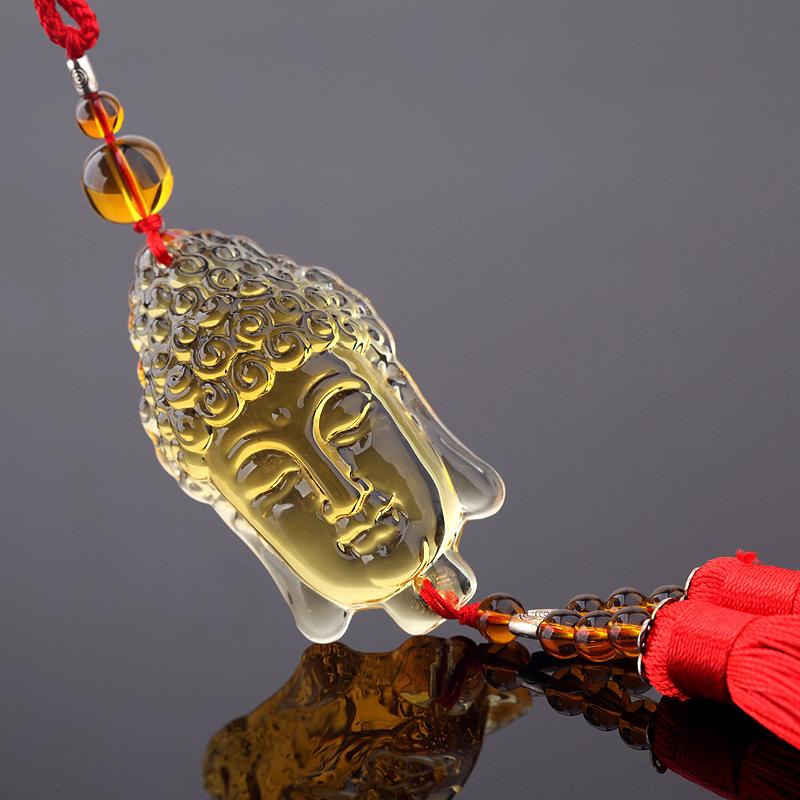 Dây treo phong thủy ô tô Phật bảo bình an Kanoch