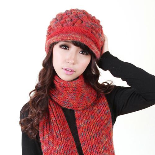 Bộ  mũ và khăn len dành cho nữ Dorain