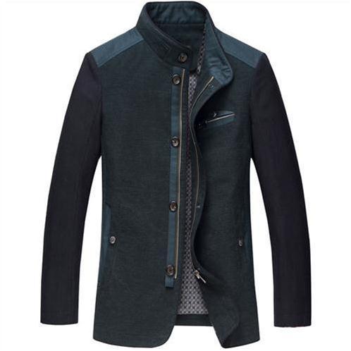 Jacket nam N.Leidun khóa kéo phối màu