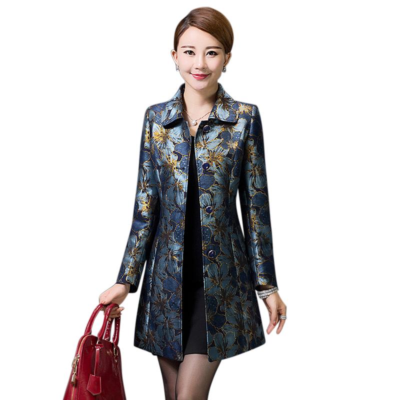 Áo khoác nữ dáng dài in hoa YNAL