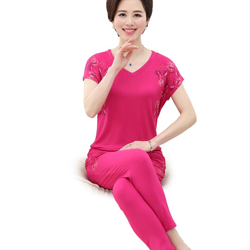 Bộ nữ trung niên mặc nhà tay cánh dơi SMT