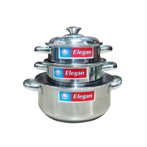 Bộ nồi inox Elegan 3 đáy Happycook EL-06IC