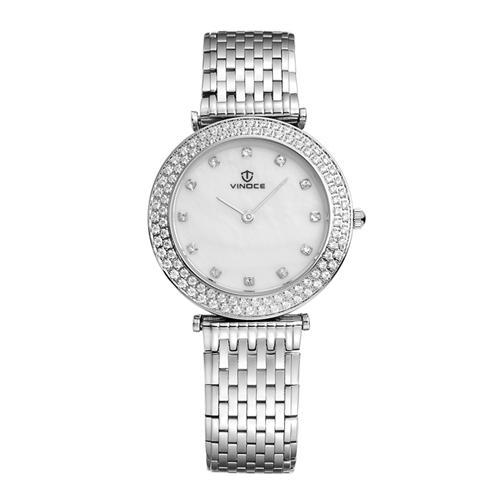 Đồng hồ nữ siêu mỏng Vinoce 6323l đính pha lê
