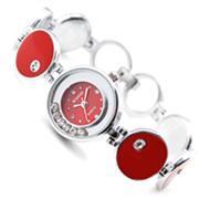 Đồng hồ thời trang Hàn Quốc Happy Time (Đỏ (N2))