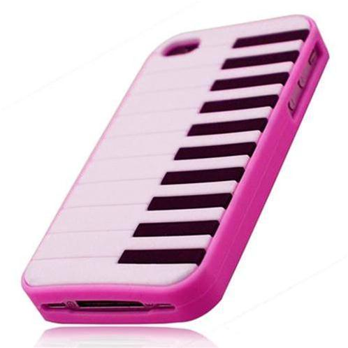 Vỏ Iphone 4/4s Piano Silicon