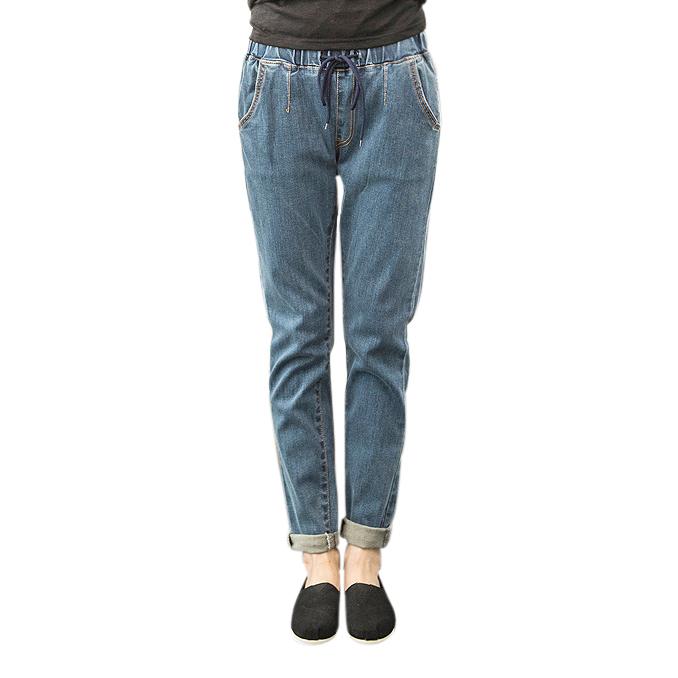 Jeans boyfriend cạp chun Goditkiss