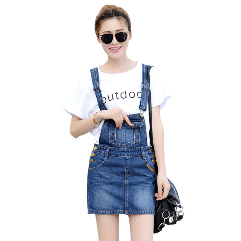 Váy yếm jeans 2 dây Mogu
