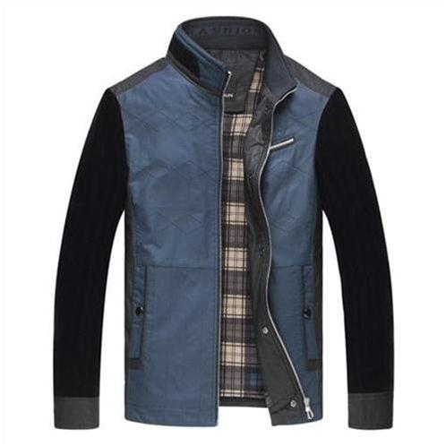 Jacket cổ đứng phối màu nam N.Leidun