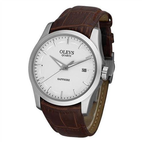 Đồng hồ nam dây da Olevs